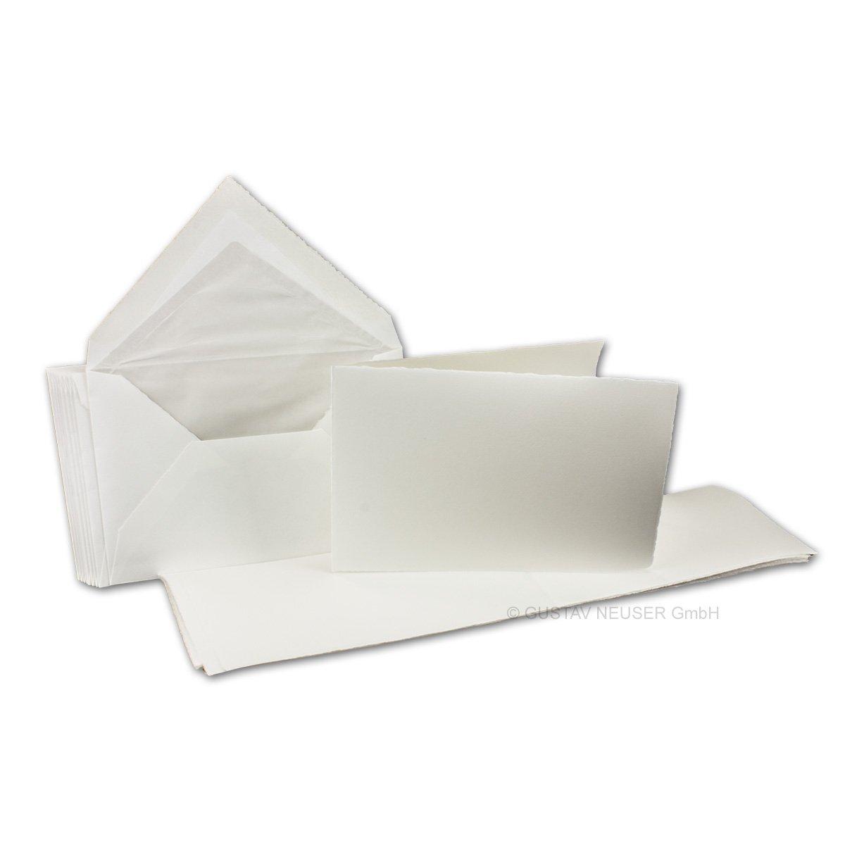 Bianco Buste da lettera foderate in formato B6 ////Colore Set di biglietti di carta integralmente realizzata a mano////40/pezzi//// Biglietti