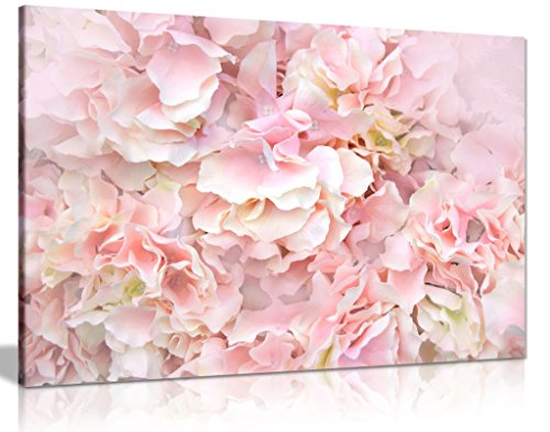 """LARGE PINK WHITE ROSE FLOWER VINTAGE CANVAS WALL PICTURE FLASH ART 30/"""" 20/"""" 0377"""