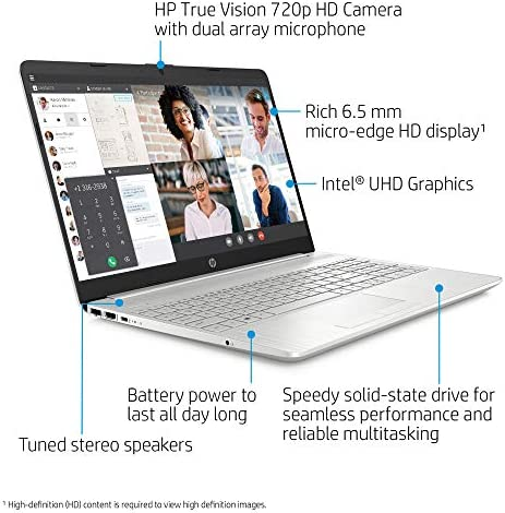"""2021 Newest HP 15 Budget Laptop Notebook, 15.6"""" HD BrightView Display, i3-10110U, 8GB DDR4 RAM, 256GB SSD, Webcam, WiFi, Bluetooth, Windows 10, Natural Silver WeeklyReviewer"""