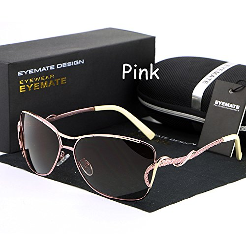Lnabni Women's Fashion Polarized/Driving Sunglasses 100% UV Protection Outdoor Sport Eyeglasses Goggles Brand Design (pink, - Brand Best The Sunglasses
