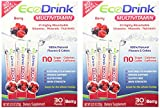 Ecodrink® Multivitamin Drink Mix 60 Packets – (BERRY Flavor Only)