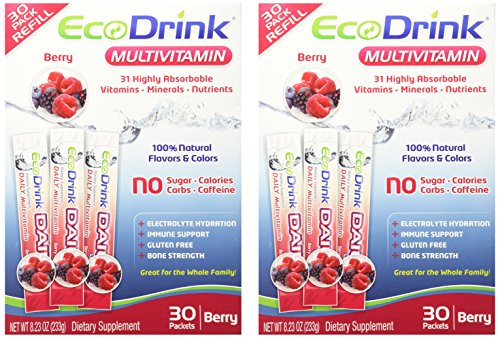 - Ecodrink® Multivitamin Drink Mix 60 Packets - (BERRY Flavor Only)
