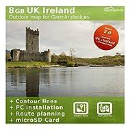 8Go Carte du Royaume-Uni, Grande-Bretagne, Irlande,–Compatible avec Garmin GPSMAP 62st, écran haute qualité 62sc, écran haute qualité 64, GPSMAP 64S, écran haute qualité 64ST