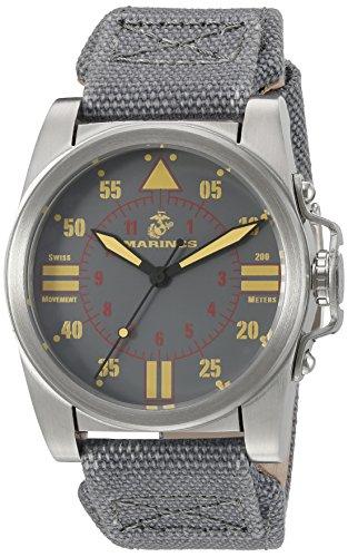 Wrist Armor Men's 37WA010101A United States Marine Corps Analog Display Swiss Quartz Grey Watch