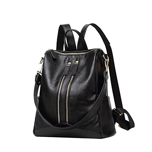 Classic Women Bag Travel Backpack Pu Bags Occasional Vintage Waterproof Pockets Large Shoulder Black Bags Multi Tote P5wxqHPd