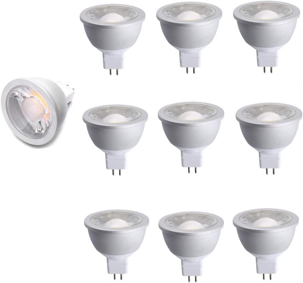 Cold Forging Aluminum for Best Heat Dissipation 630lm 10 Pack Replace 50W Halogen Bulbs Special for Project 3000K NickLED MR16 7Watt Dimmable High Lumen COB LED Bulb