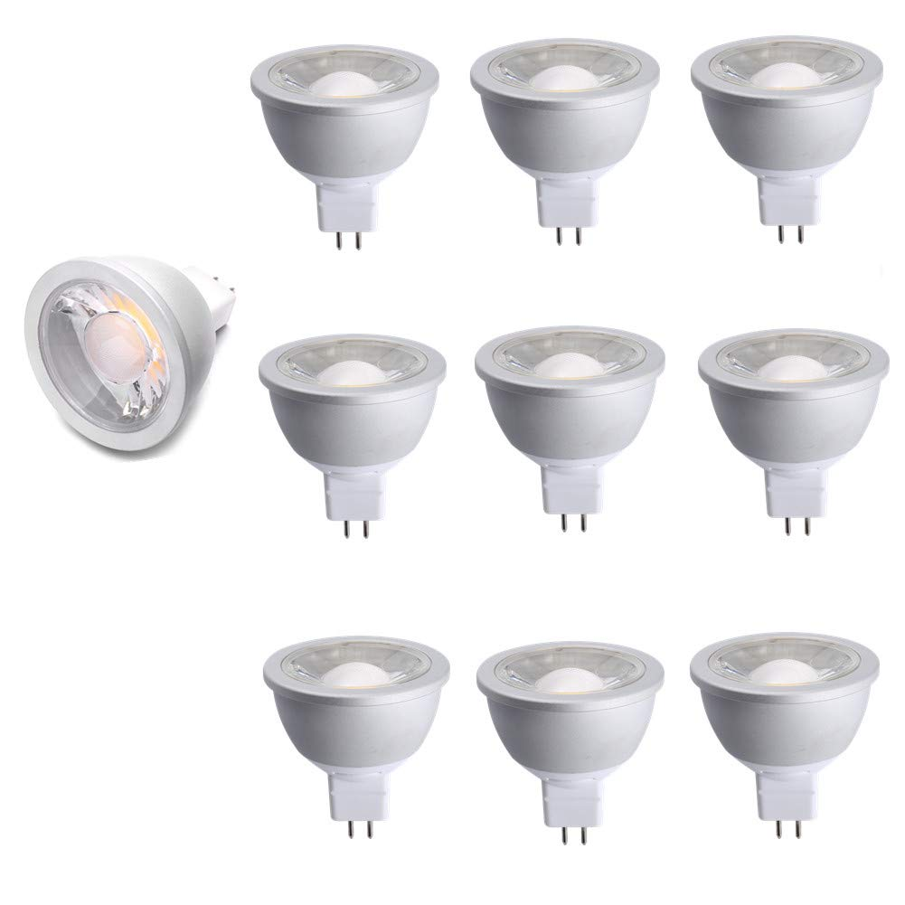 (10 Pack) NickLED 7Watt MR16 Dimmable High Lumen LED Bulb, 630lm, 5000K-Natural White, Replace 50W Halogen Bulbs, Cold Forging Aluminum Recessed Spotlight for Living Room Bedroom Office Mall