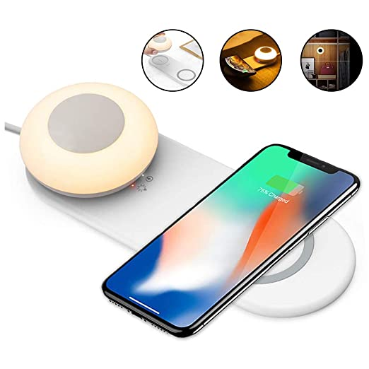 HOMED Lámpara de Mesa de Noche, de tecla Inteligente LED con ...