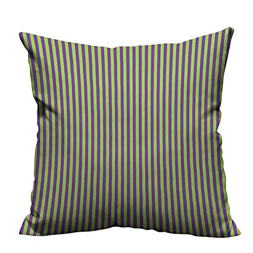 YouXianHome Decorative Throw Pillow Case V Tage Retro 50s 60s Style Strip Wallpaper Image Royal Blue Lime Ideal Decoration(Double-Sided Printing) 20x35.5 inch]()