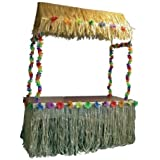 Nylon Tiki Table Skirt (108in x 29in) - Tropical Hawaiian Party Decorations by Party Packs