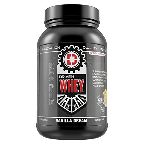 DRIVEN WHEY- Grass Fed Whey Protein: The superior tasting whey protein powder- recover faster, boost metabolism, promotes a healthier lifestyle (Vanilla Dream, 2 lb) Review