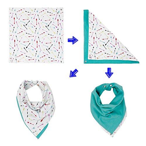 Multiple Patterns 100% Organic Cotton True Bandana Bib | Fox and Owl Kids | (Fireworks Pattern)