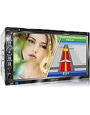 XOMAX XM-2DN6906 autoradio met Mirrorlink I GPS-navigatie I navigatiesoftware incl. Europe maps I Bluetooth handsfree kit I 18cm touchscreen I DVD CD-speler I SD I USB I Aux I 2 DIN