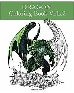 Amazon DRAGON Coloring Book VoL2 Adult Design 9781545433744 Yoshida Daiki Books