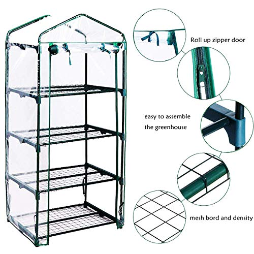 Yardeen 4 Tier Mini Greenhouse Rack Stands Portable Garden for Outdoor & Indoor by Yardeen (Image #2)