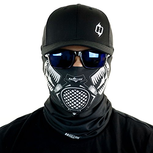 Gas Mask Bandana Face Mask Sun Shield Can Be Worn Over 10 Different Ways 100% -
