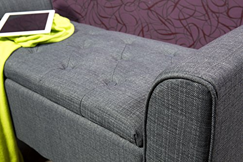 Ws style große truhenbank polsterbank sitzbank grau amazon