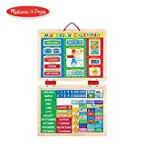 Melissa & Doug My Magnetic Daily Calendar, Seasonal & Religious, Daily Magnetic Calendar, Fabric-Hinged Dry-Erase Boards, 30.48 cm H x 40.005 cm W x 2.54 cm L
