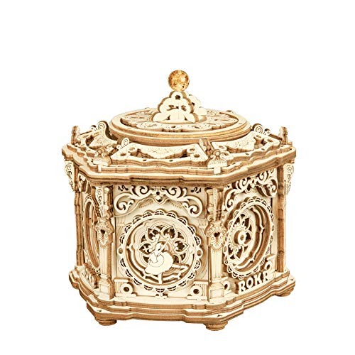 RoWood 3D Wooden Puzzle, Mechanical Music Box