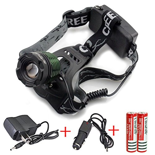 Genwiss Headlamp Rechargeable Zoomable Camping