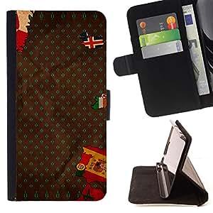 BullDog Case - FOR/Samsung Galaxy S5 Mini, SM-G800 / - / europe flag spain portugal iceland map /- Monedero de cuero de la PU Llevar cubierta de la caja con el ID Credit Card Slots Flip funda de cuer