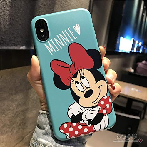 Twinlight Cute Mickey Minnie Mouse Phone Cases for iPhone 8 7 Plus Cartoon Donald Daisy Duck Soft Cover for iPhone X XS Max XR Case (Blue, for iPhone XR) (Mickey Mouse Iphone 4s Case)