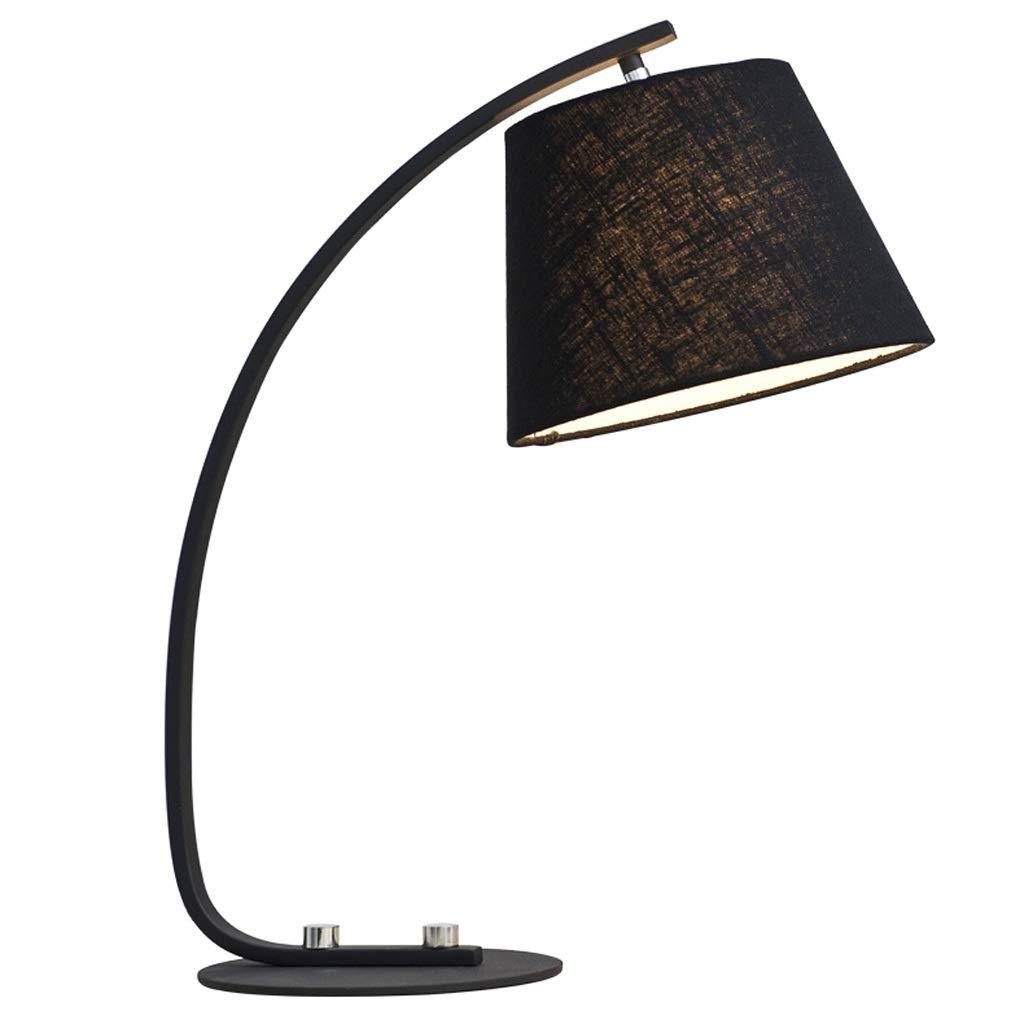 Wangyi 電気スタンド- 北欧クリエイティブテーブルランプの寝室のベッドサイドモダンなミニマリストの暖かいリビングルームのスタディランプ、白、黒 (色 : ブラック, サイズ さいず : 53x24cm) 53x24cm ブラック B07RGCZMVS