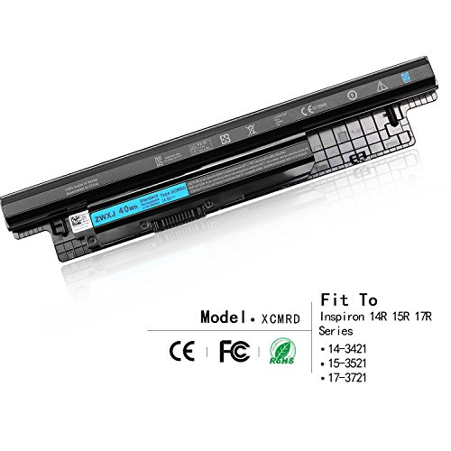 ZWXJ Laptop Battery XCMRD MR90Y(14.8V 40WH) for Dell Inspiron 14 15 17 14-3421 15-3521 17-3721 5421 3537 5521 5537 3721 5721 2421 2521 14R 15R 17R Series PVJ7J 49VTP YGMTN 8TT5W 9K1VP XRDW2 V1YJ7