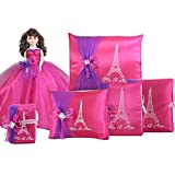 Quinceanera Complete Set Doll Guest Book Kneeling Tiara Pillow Photo Album Bible Q1052 (Basic set + Spanish bible)