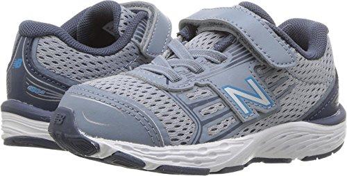 New Balance Boys' 680v5 Hook and Loop Running Shoe, Reflection/Maldives Blue, 8.5 W US Toddler