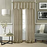 Cheap Elrene Home Fashions 026865876239 Rod Pocket Sheer Window Curtain Drape Panel, Set of 2, 52″ X 84″, Taupe