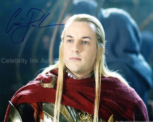 CRAIG PARKER as Haldir - The Lord Of The Rings Genuine Autograph from Celebrity Ink