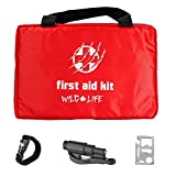 Survival First Aid Kit Ideal for Camping, Hiking, Travel & Car with Bonus Survival Tools and Gadgets (96 pieces)