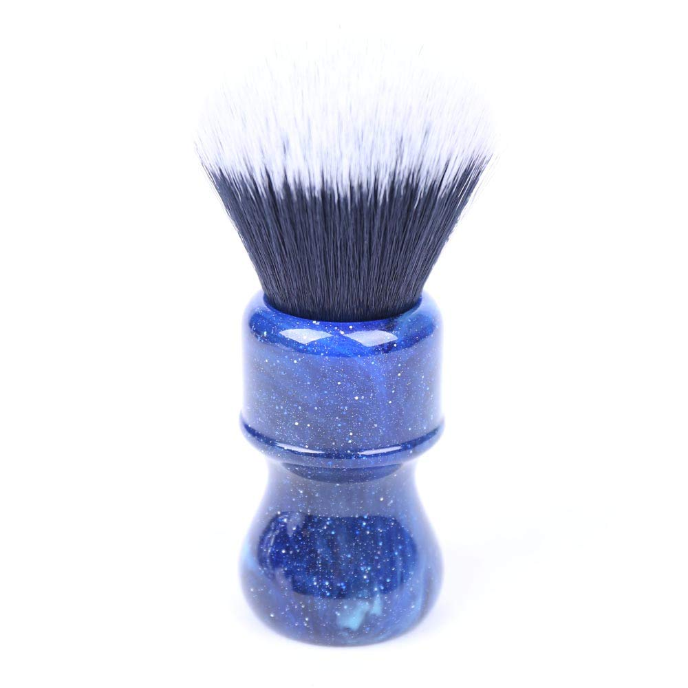 Mysterious Space 26mm Shaving brush by Yaqi | Synthetic Tuxedo Hair Knot with Durable Resin Handle | Get a Barber Quality Lather Each Time | R1731 Yaqi Brush