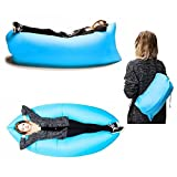 Homies International, Inflatable Portable outdoor cloud Lounger for Hangout, Beaches, Camping, Events Air Lounger. Carry Bag included, Color: Randomly sent as per availability.