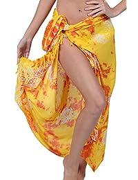 Ingear Print Sarong Beachwear Wrap Skirt Summer Pareo Handmade Swimsuit Cover Up