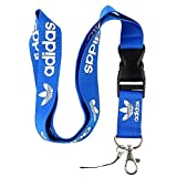 Blue & White Logo Keychain Key Chain Black Lanyard Clip with Webbing Strap Quick Release Buckle (PCK-014)