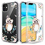 Caka Floral Clear Case for iPhone 11 Flowers Floral Pattern Design for Girls Women Girly Cute Slim Soft TPU Transparent Shockproof Protective Case for iPhone 11 (Owl)