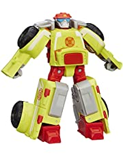 "TRANSFORMERS Heatwave the Fire Bot 4.5"" Converting Robot Action Figure - Rescue Bots Academy - Kids Toys - Ages 3+"