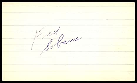 dc1f59c24032 Image Unavailable. Image not available for. Color  Fred Schaus SIGNED 3X5  INDEX CARD AUTHENTIC AUTOGRAPH Los Angeles Lakers ...