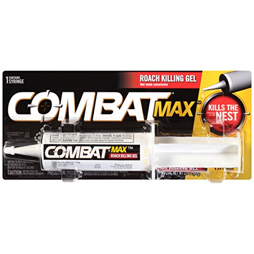 - Combat Max Roach Killing Gel for Indoor and Outdoor Use, 1 Syringe, 2.1 Ounces