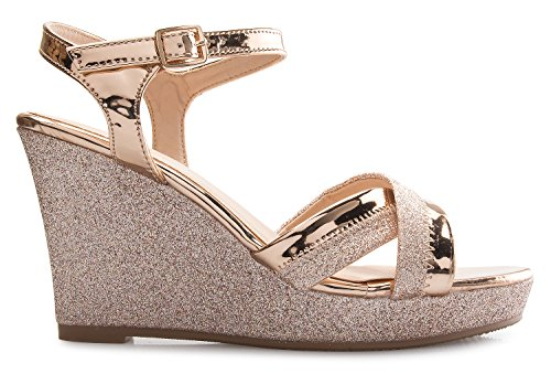 Buy sparkling rose gold shoes for women