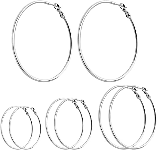 Plated Steel Spiral Wire Spring Band Ring 20mm Diameter Jewelry Fashion Gift