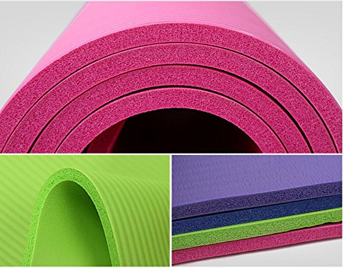Pro Space Yoga Mat 1/2-Inch Extra Thick Exercise Mat All-Purpose with Carrying Strap (24''x71'') Gray