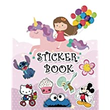 "Sticker Book: Ultimate Blank Sticker Book for Kids, Sticker book Collecting Album: Blank Notebook Pages, Size: 8"" x 10"" (Blank Sticker book for Toddlers, Kids, Girls, Boys)"