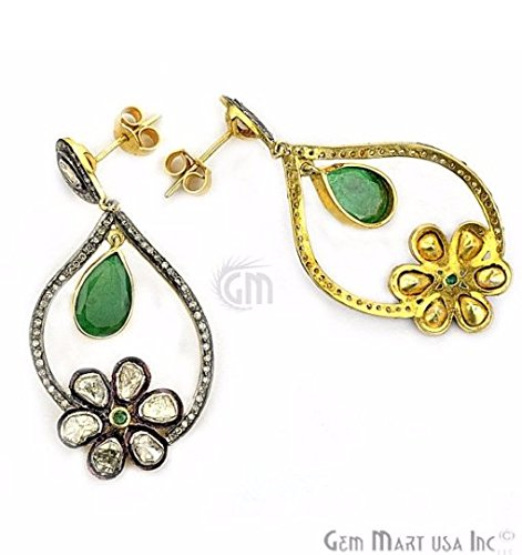 Select Your Victorian Estate Jewelry Diamond Dangle Earring Exclusively by GemMartUSA (DR-12095) (Estate Dangles)