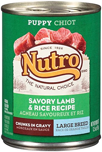 Picture of Nutro 50411587 Savory Lamb & Rice Recipe Chunks In Gravy Can Large Breed Puppy Food, 12 Ea/12.5Oz