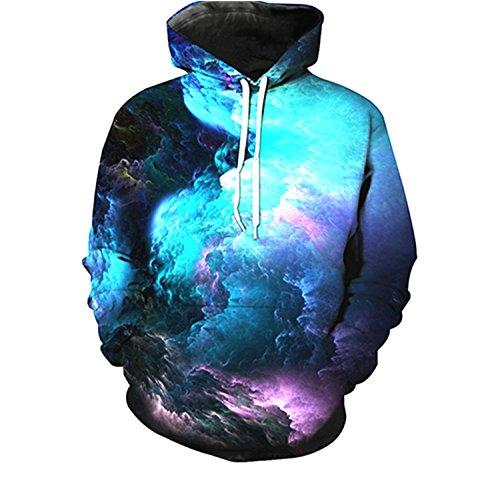 Drawstring Fleece Sweatshirt (youvimi Unisex 3D Printed Drawstring Pockets Pullover Hoodie Hooded Sweatshirt (Black03, Large/X-Large))