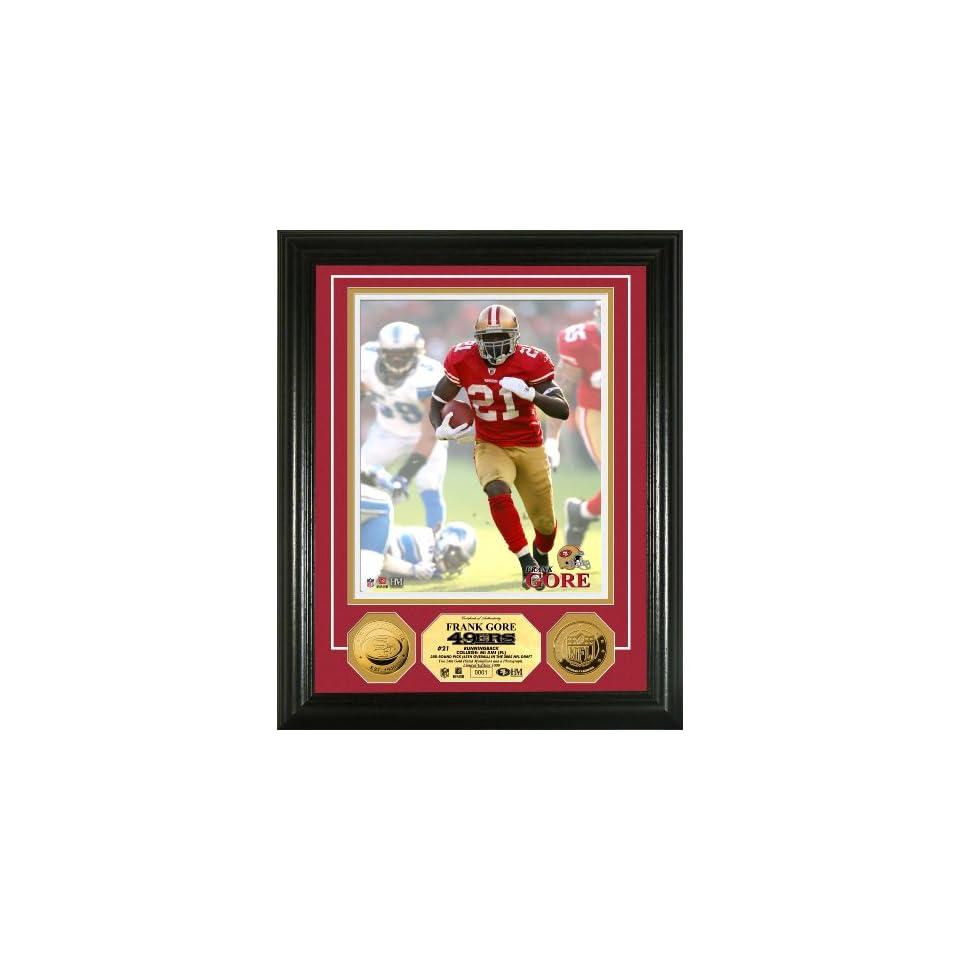 Highland Mint NFL San Francisco 49ers Frank Gore 24KT Gold Coin Photomint