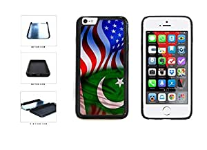 Pakistan And USA Mixed Flag Dual Layer Phone Case Back Cover Apple iphone 5c inches screen) includes diy case Cloth and Warranty Label